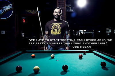 We have to start treating each other as if, we are treating ourselves  living another life - Joe Rogan