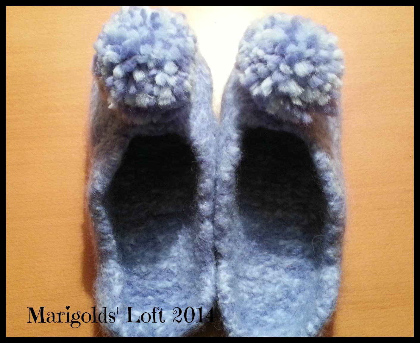 Drops felted slippers