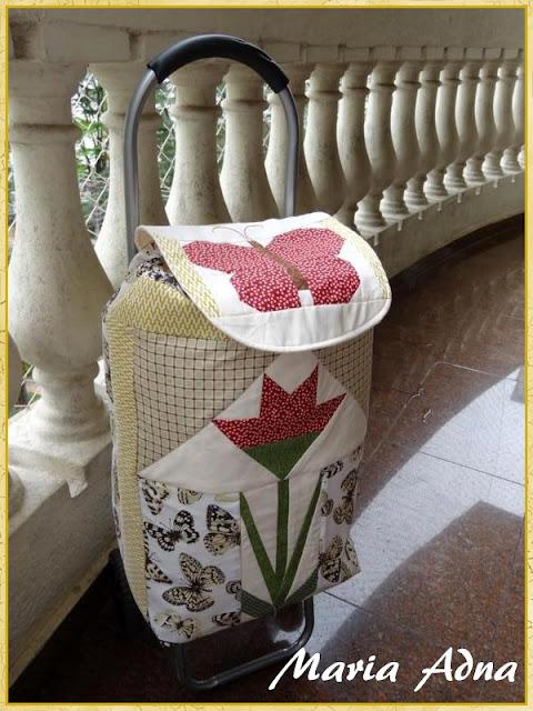 Carrinho-patchwork, Carrinho-patchwork-foundation, Carrinho-transporte-patchworki, Patchwork, Foundation
