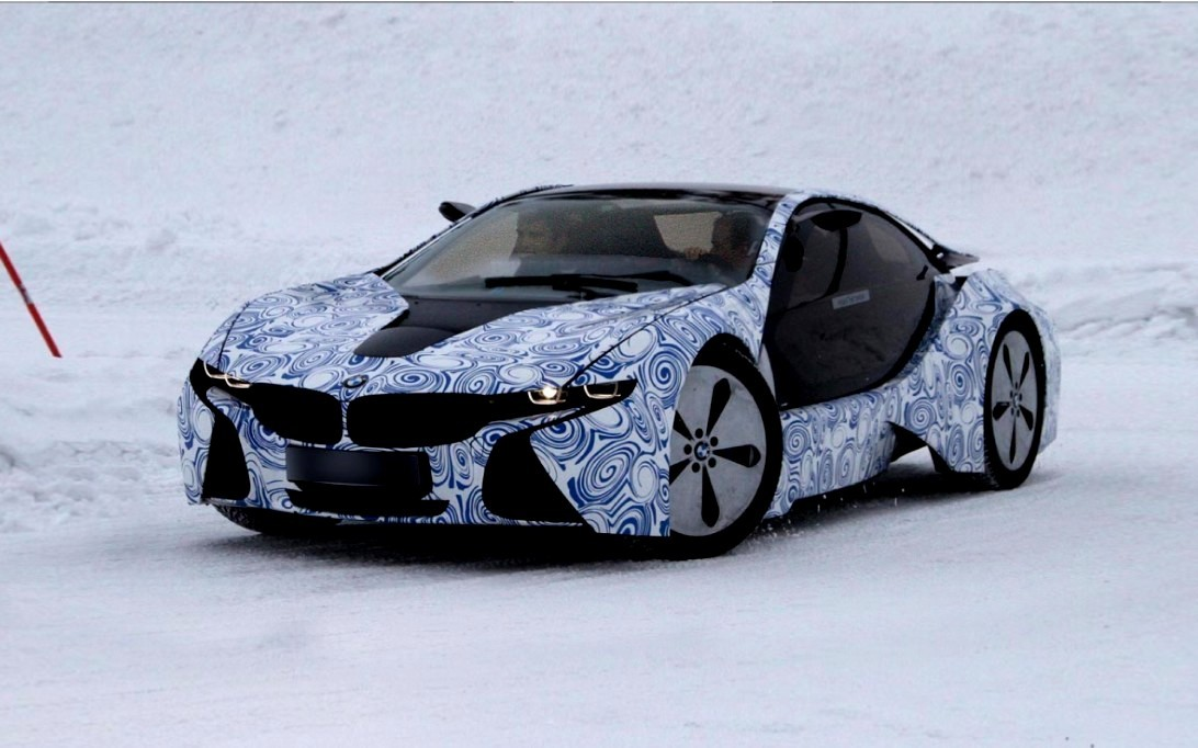 BMW i8 hybrid electric car