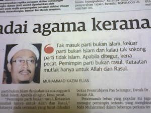 TAK MASUK PARTI BUKAN ISLAM KELUAR PARTI BUKAN ISLAM TAK SOKONG PARTI TIDAK ISLAM