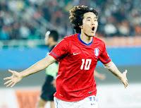 Park Chu-young con la selección de Corea