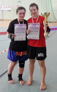 Złota Dominika Gleisner - Puchar Polski Juniorów Kick light - Kartuzy 2012r. muay thai, k-1, Zielona Góra, kickboxing, shoot boxing