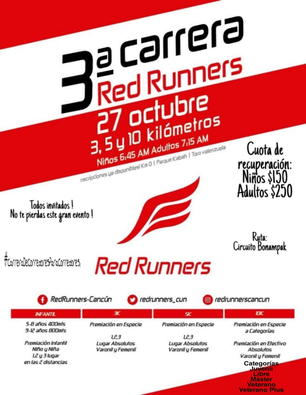 3ra Carrera Red Runners