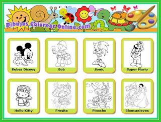 dibujos para colorear para nios de a aos