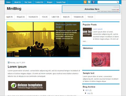 MiniBlog Blogger Theme