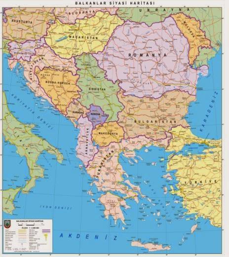 Balkanlar Siyasi Haritas�