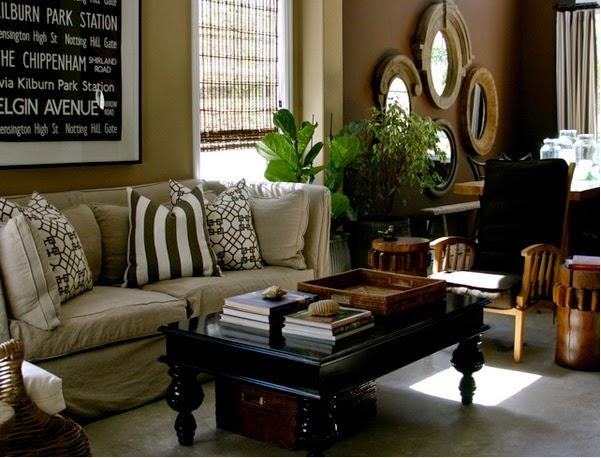 Deco Photo beige et marron et papier peint sur Deco