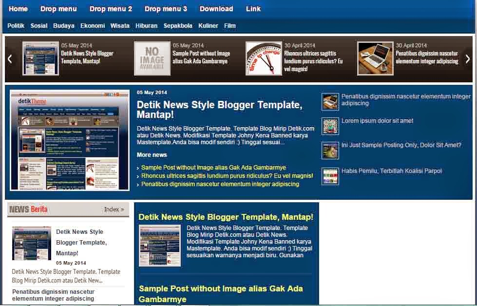 Detik news style blogger template all free share templates detik news style blogger template stopboris Gallery