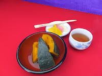 護摩木、カボチャ、漬物をあわせて500円。
