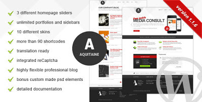 Aquitaine Wordpress Theme