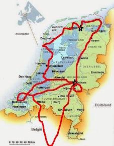 Mapa Holanda Fábia e Thijs Novembro 2014