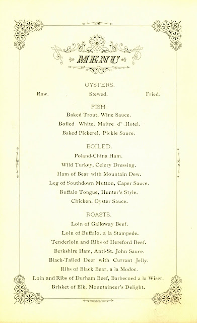 Menu, page 1