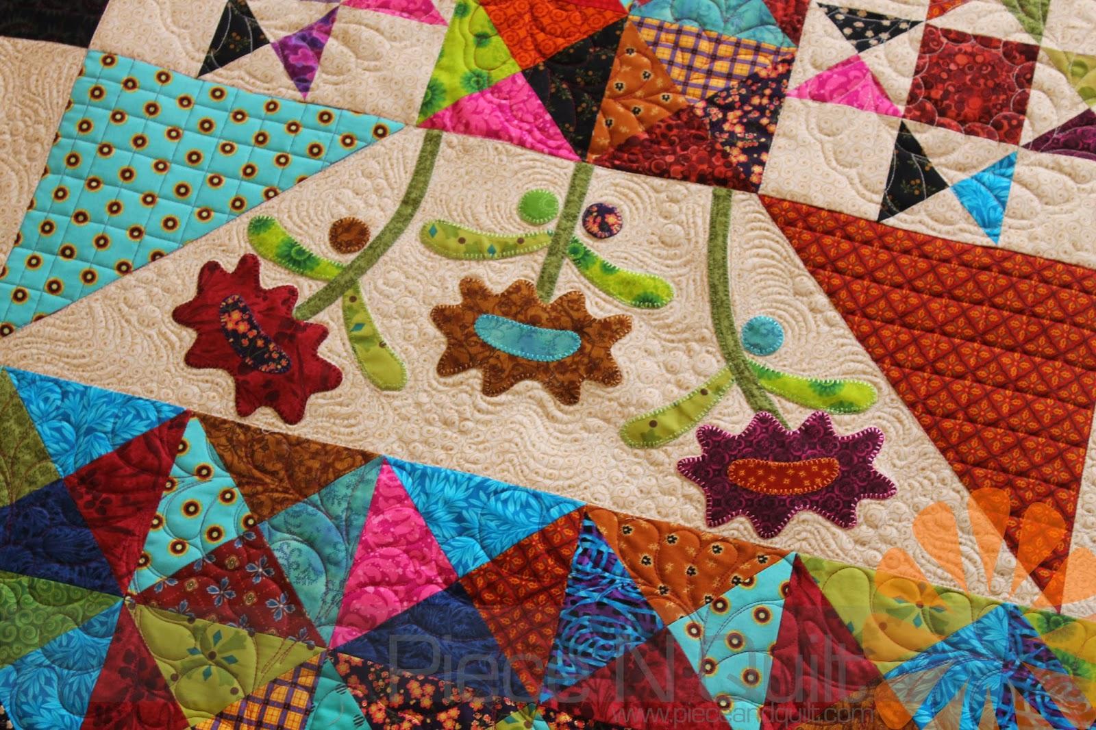Piece N Quilt: Late Bloomers - Custom Machine Quilting by Natalia ... : piece n quilt - Adamdwight.com