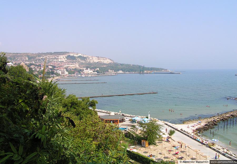 Море и пляж в Балчике, Болгария