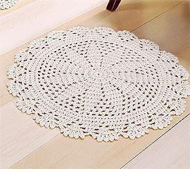 Tapetes de crochês