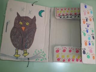 Reciclando cartón en la clase en Recicla Inventa