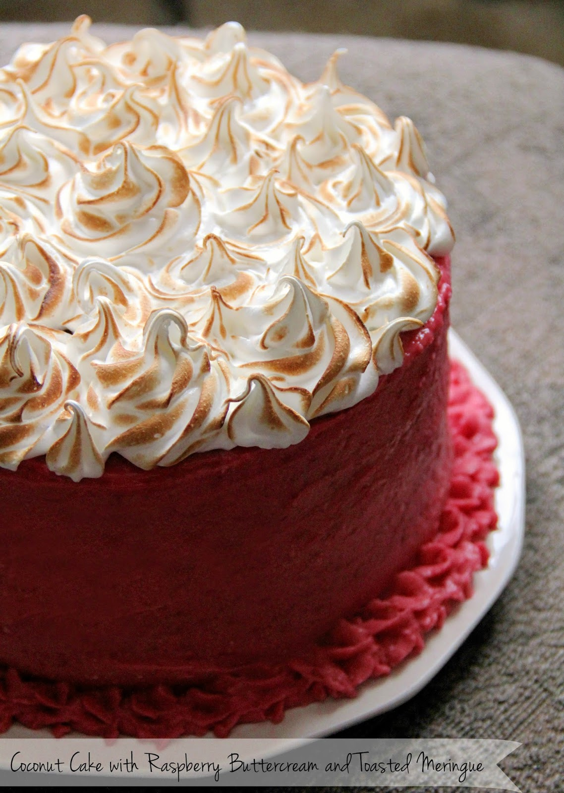 Jo and Sue: Coconut Cake With Raspberry Buttercream And ...