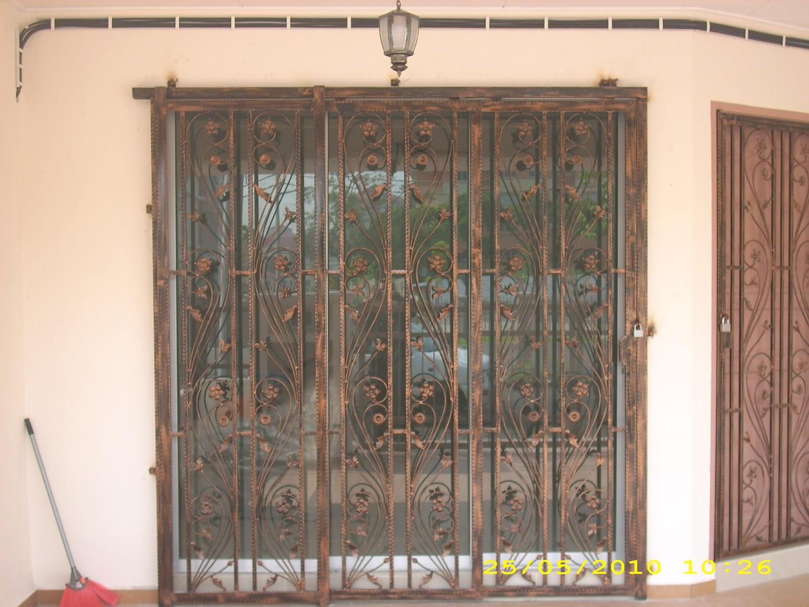 Utama iron works sliding door design