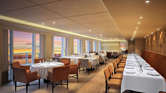 The Restaurant is just one of the multiple dining locations onboard and offers an exquisite setting and panoramic views for your dining pleasure. All photos: © Viking Cruises. Unauthorized use is prohibited.