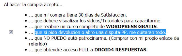 Droid4 Pro Estafa