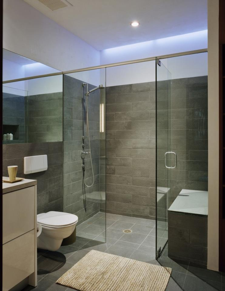 Shower glass partitons kerala for Bathroom interior design kerala