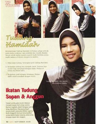 Cara Memakai Hijab Malaysia Style Yang Anggun