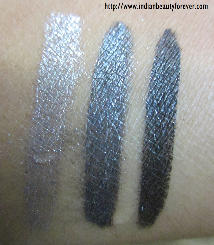 Maybelline swirl gel eyeliner swatches