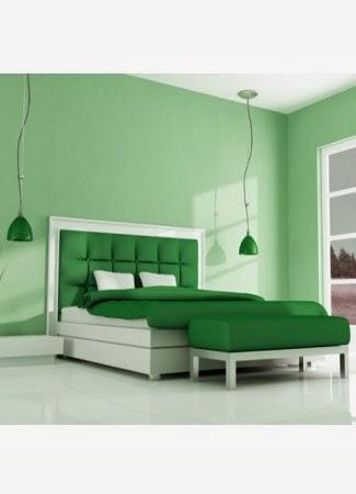warna cat kamar tidur hijau