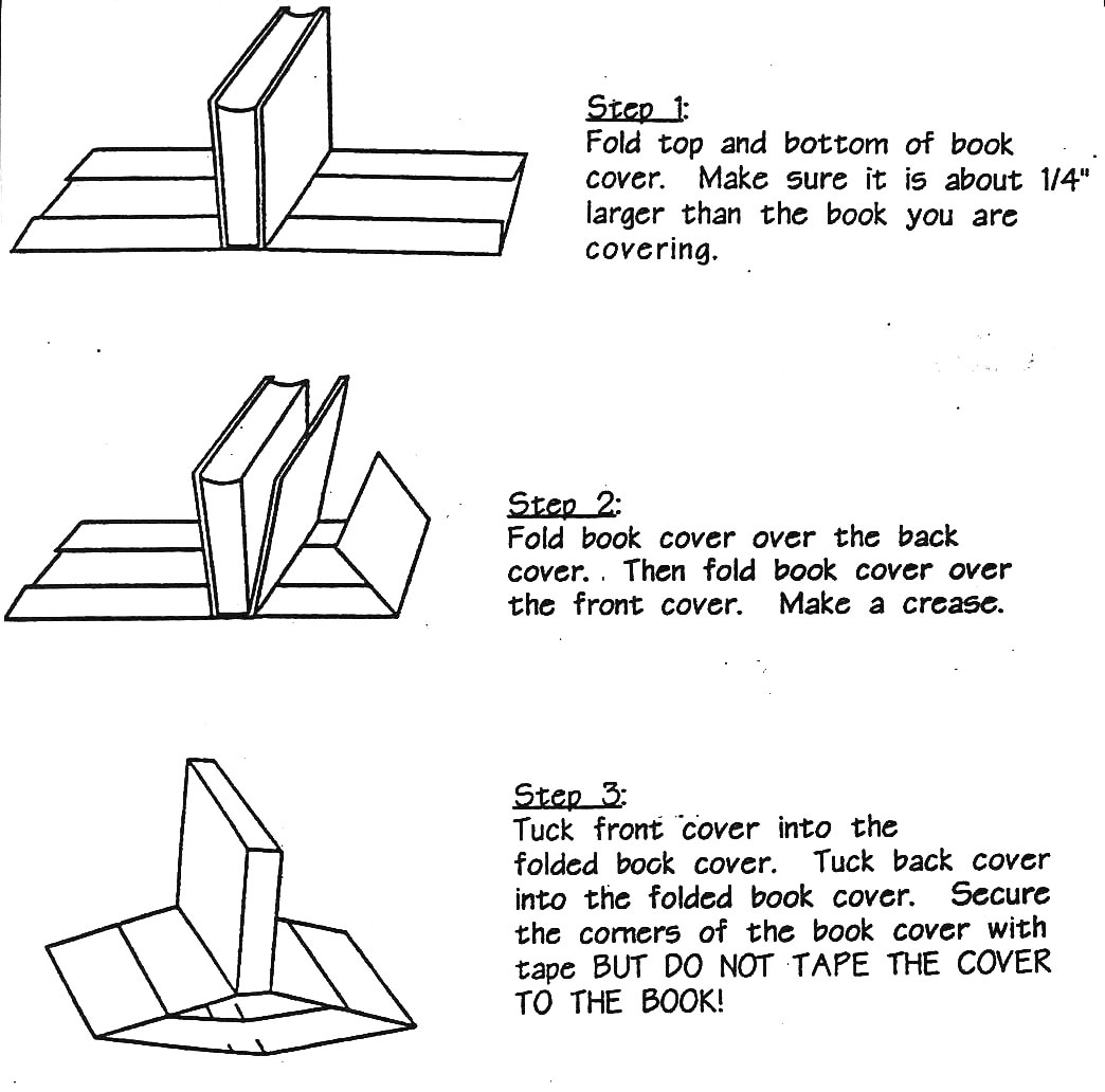 How To Wrap A Book Cover In Paper : Instructions for making a book cover video search engine