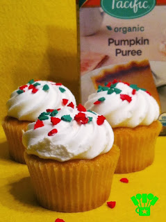 Tetra Pak Cartons from Pacific Foods in Pumpkin Cupcakes with Cream Cheese Frosting