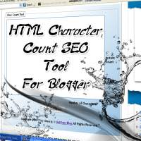 HTML character count SEO tool for blogger