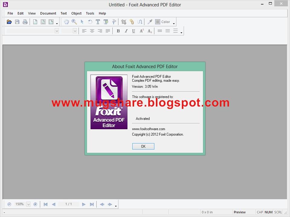 foxit advanced pdf editor 3.1.0.0 activation key