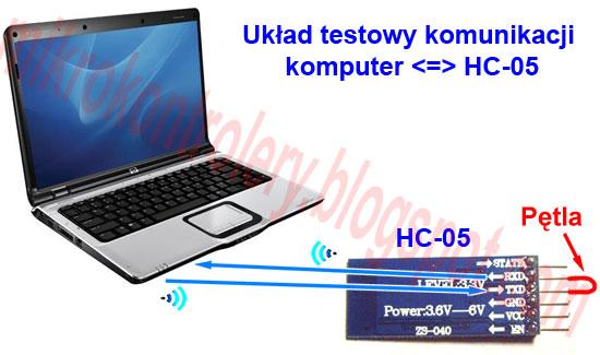 Bluetooth HC-05 - Testowanie komunikacji z komputerem za pomocą pętli.