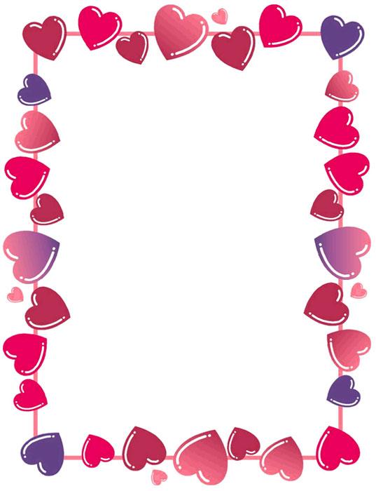 Diseños bordes mariposas y corazones - Imagui