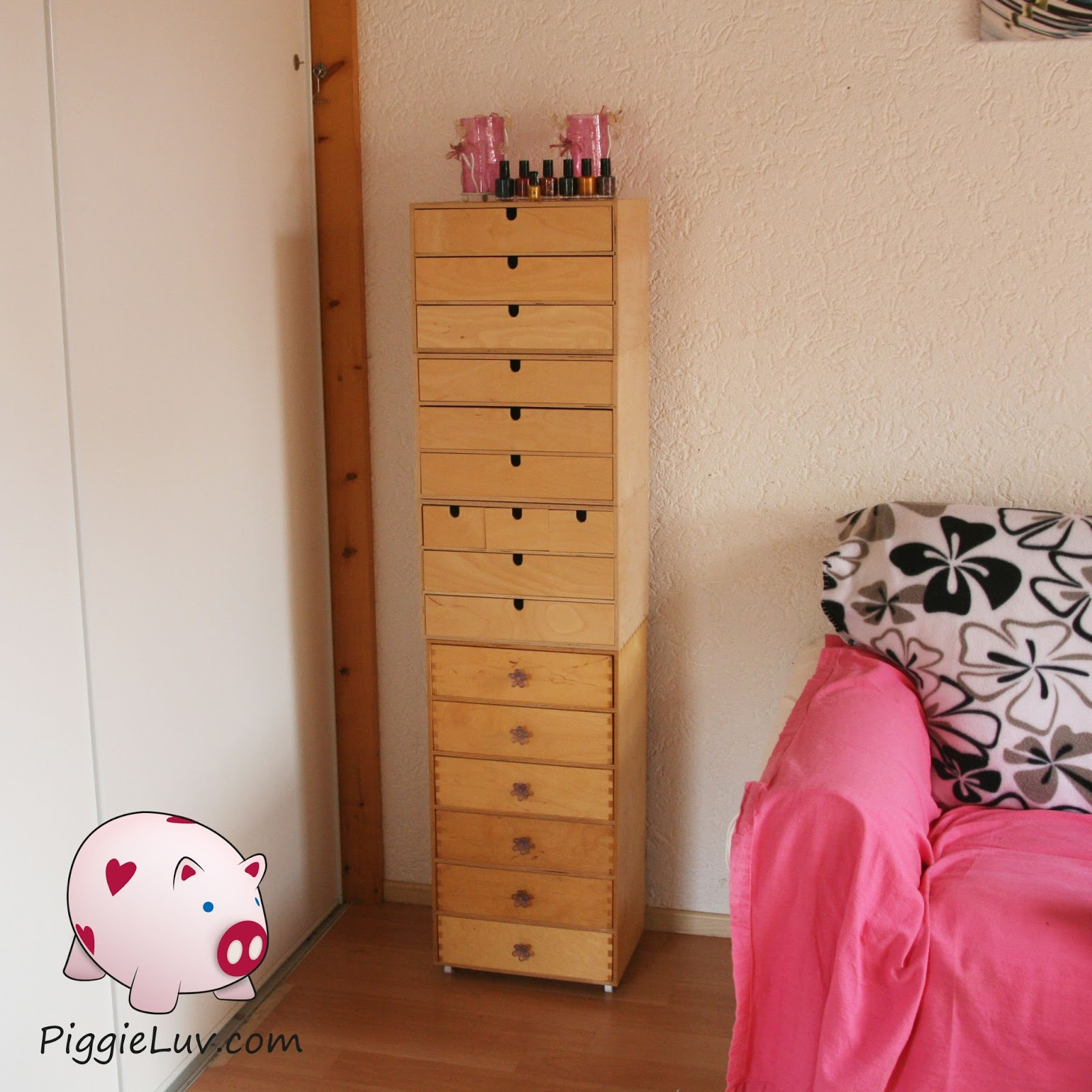 PiggieLuv: Ikea Alex for nail polish storage!