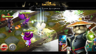 Screenshots of the Hero Summoners for Android tablet, phone.