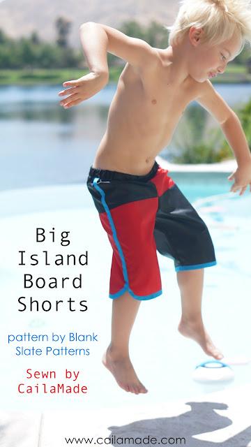 Big Island Board Shorts sewn by Caila Made