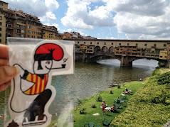 El catganer al Ponte Vecchio.