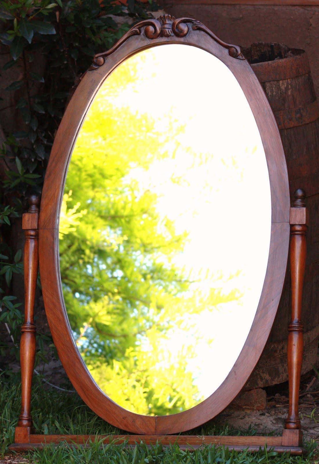 Chiribitil espejo ovalado para colgar o apoyar for Espejos para colgar