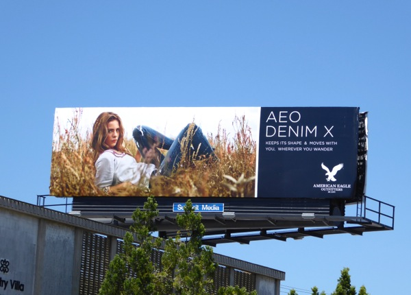 AEO Denim X billboard