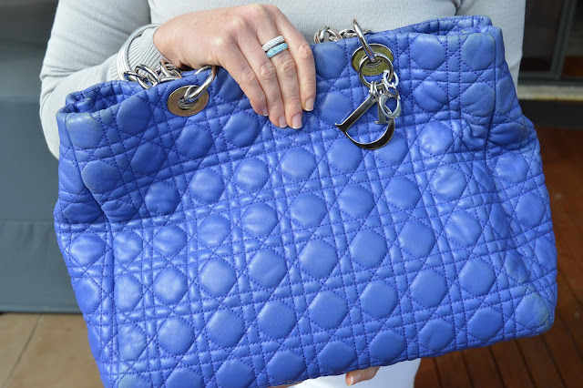 Sydney Fashion Hunter - The Wednesday Pants #40 - Silver Slicker - Blue Dior Tote