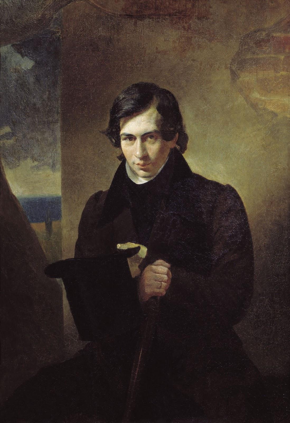 Karl   riullov  Portrait  of  the  Writer  Nestor  Vasilyevich  Kukolnik C