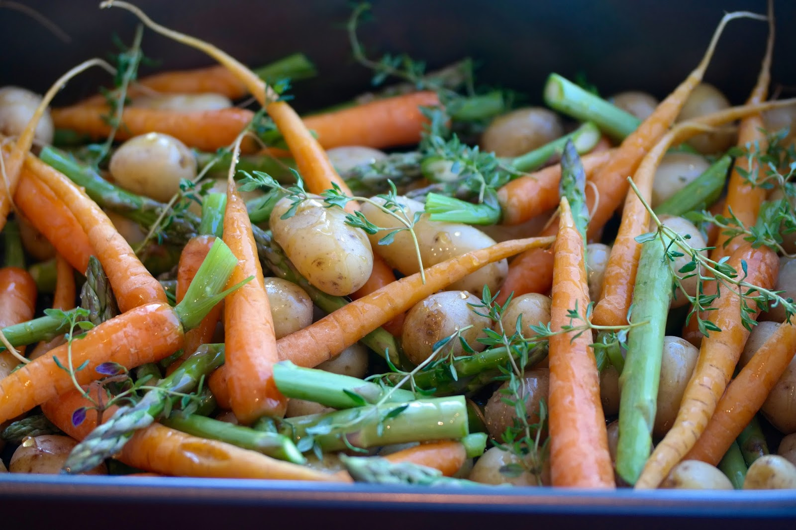 aspargeskartofler i ovn