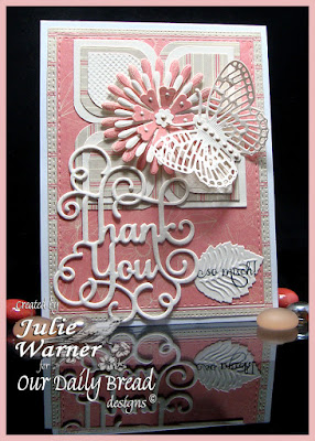 Our Daily Bread Designs Stamp Set: With Much Thanks, Our Daily Bread Designs Custom Dies:Thank You, Flourished Star Pattern, Double Stitched Rectangles, Asters, Pretty Posies, Fancy Fritillary