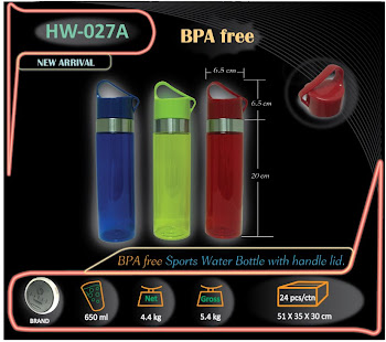 CENTRUM LINK - DRINKWARE - SPORTS BOTTLE - BPA Free - 650 ml - HY-027A