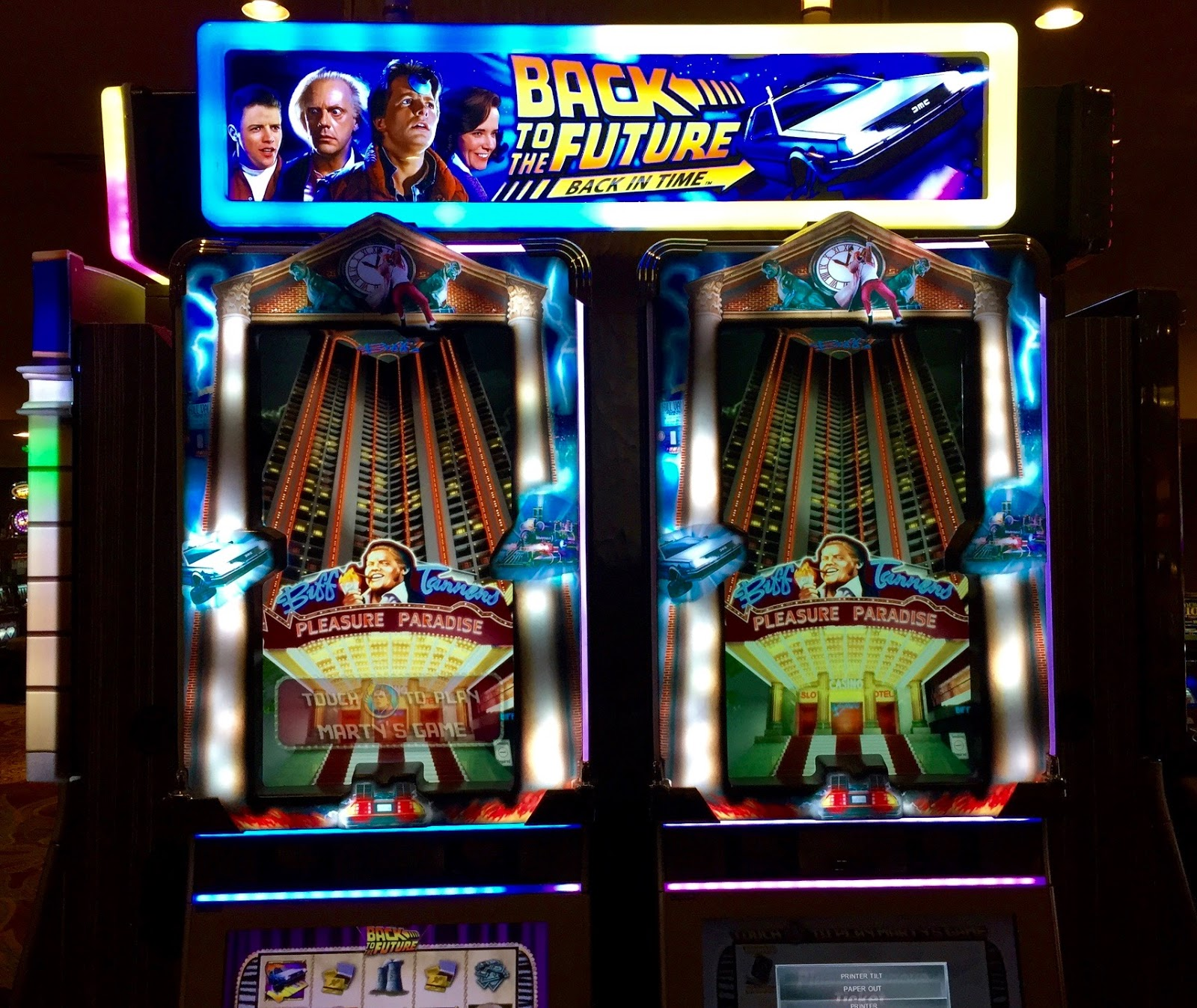back to the future slot machine locations