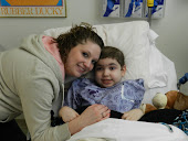 Peyton and I before he got his Central line removed