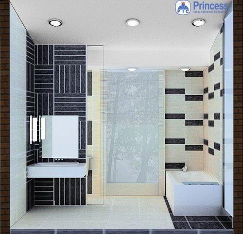 contoh desain keramik kamar mandi kecil