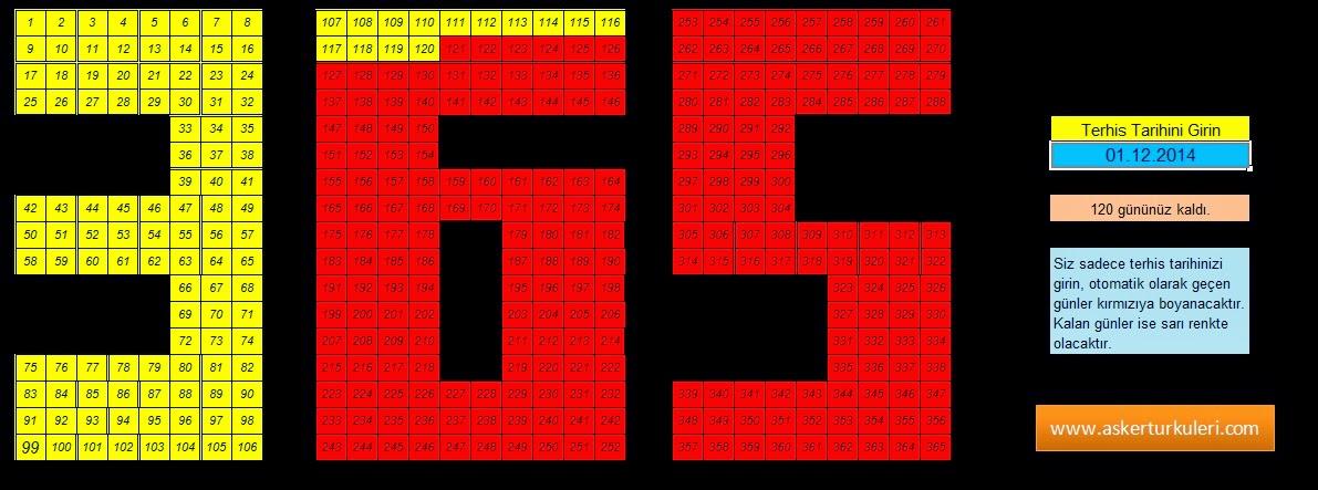 365 Safak Programi (Otomatik Excel Safak Kagidi)-Asker T�rk�leri ...